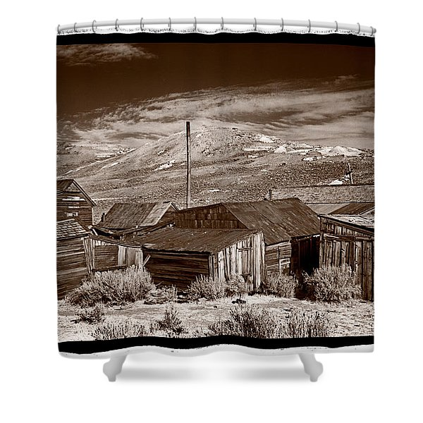 Rooflines Bodie Ghost Town Shower Curtain