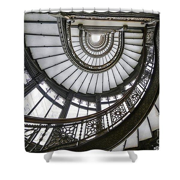 Rookery Stairway Shower Curtain