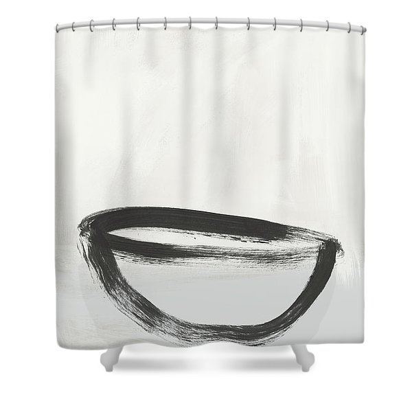 Room To Receive 1- Zen Abstract Art By Linda Woods Shower Curtain