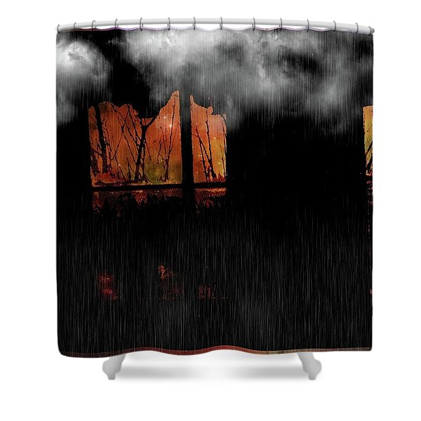 Room With Clouds Shower Curtain
