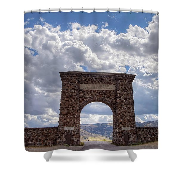 Roosevelt Arch Shower Curtain