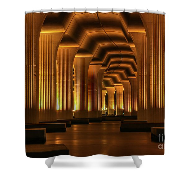 Shower Curtain featuring the photograph Roosevelt Night Shot by Tom Claud