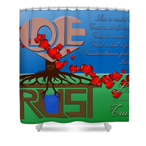 Rooted In Trust Shower Curtain