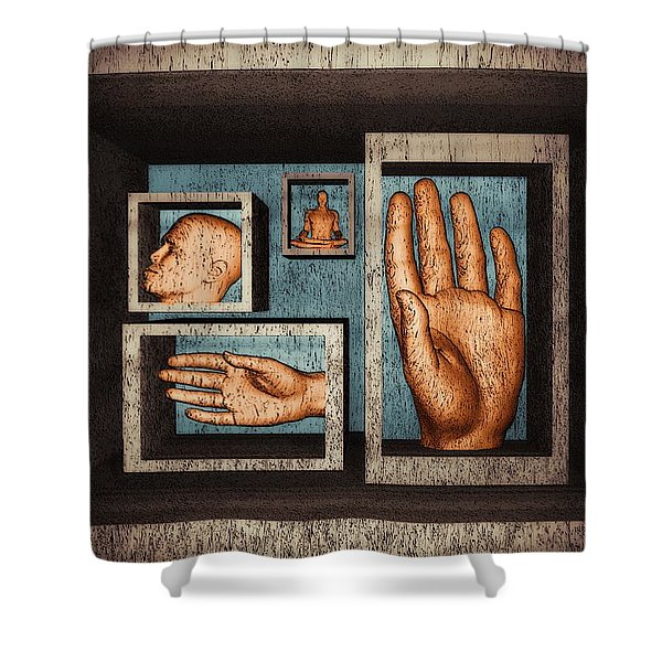 Roots Of Creativity Shower Curtain