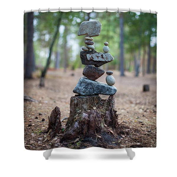 Roots Rock Shower Curtain