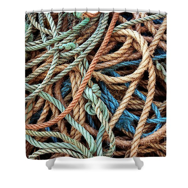 Rope Background Shower Curtain