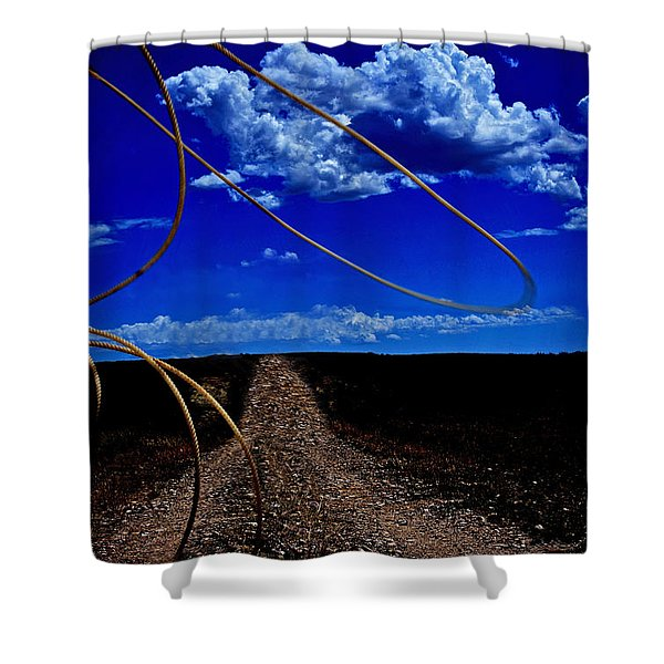 Rope The Road Ahead Shower Curtain
