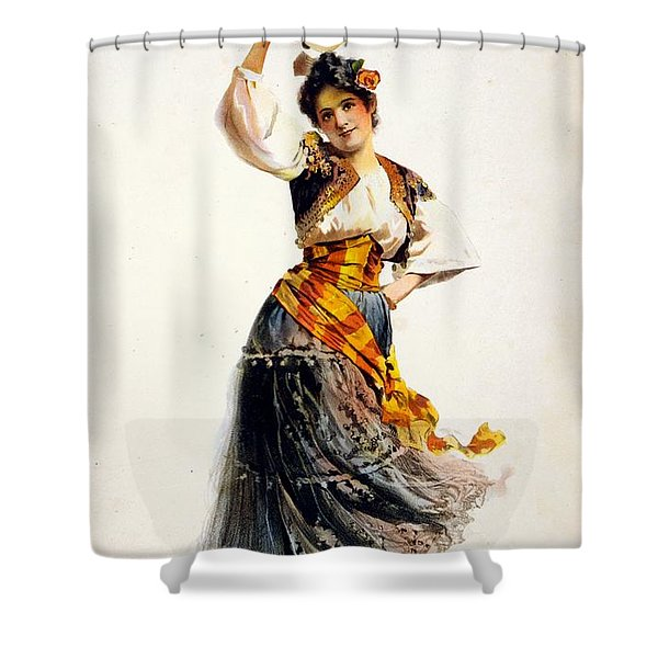 Rosabel Morrison In Carmen - Vintage Advertising Poster Shower Curtain