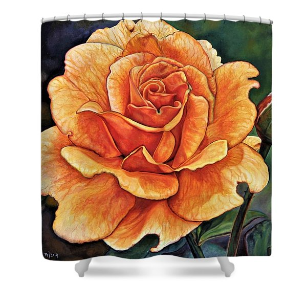 Rose 4_2017 Shower Curtain