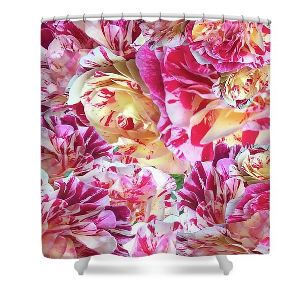 Rose Collage Shower Curtain