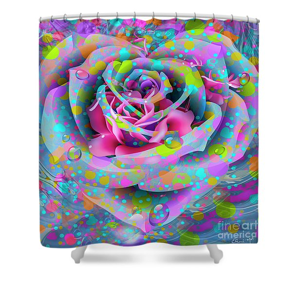 Shower Curtain featuring the digital art Rose by Eleni Mac Synodinos