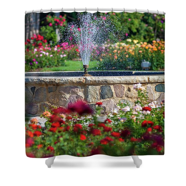 Rose Fountain Shower Curtain
