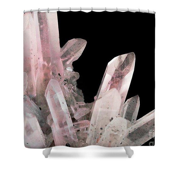 Rose Quartz Crystals Shower Curtain
