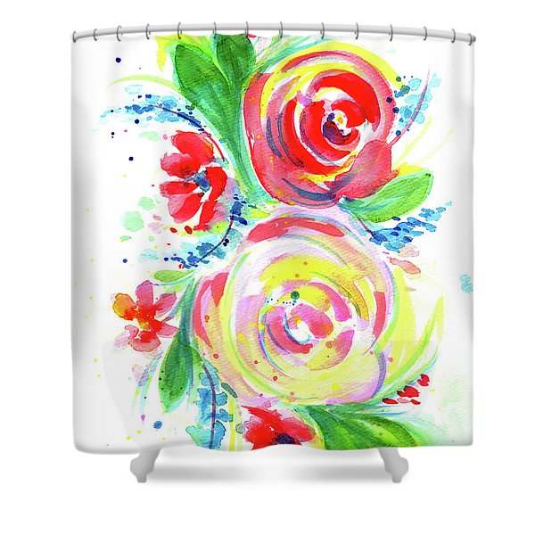 Rose Red Rose Yellow  Shower Curtain