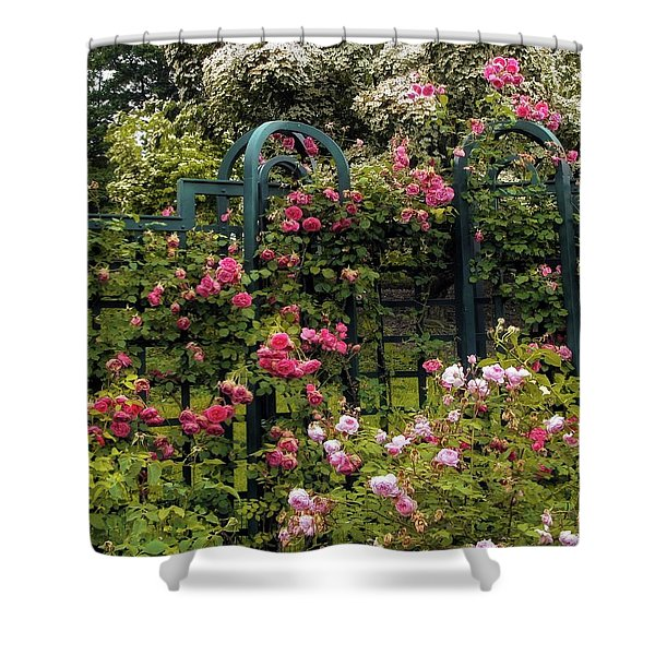 Rose Trellis Shower Curtain