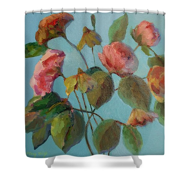 Roses And Wildflowers Shower Curtain