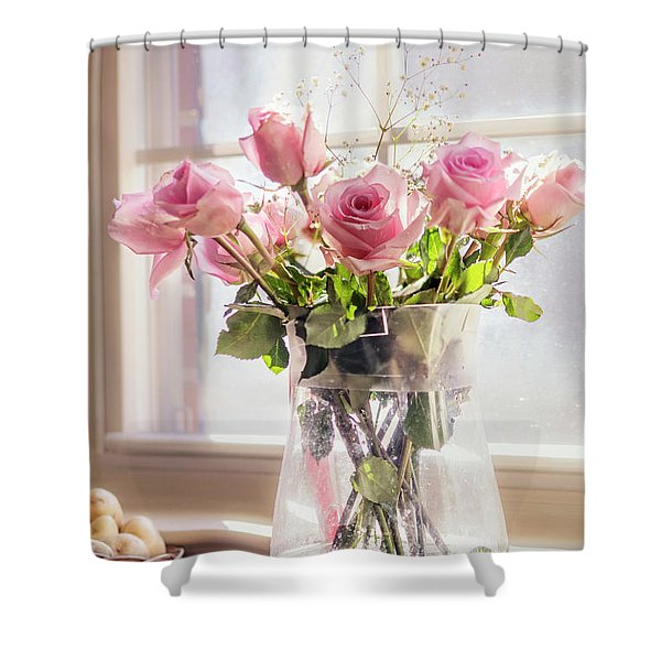 Roses In The Kitchen Shower Curtain