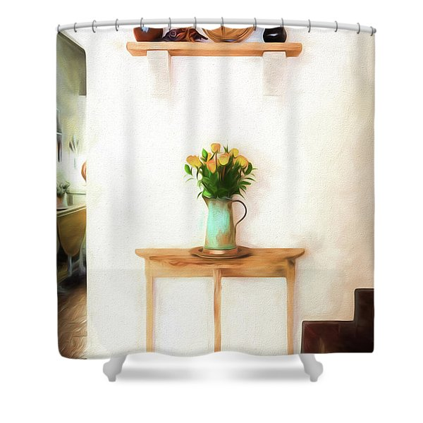 Rose's On Table Shower Curtain