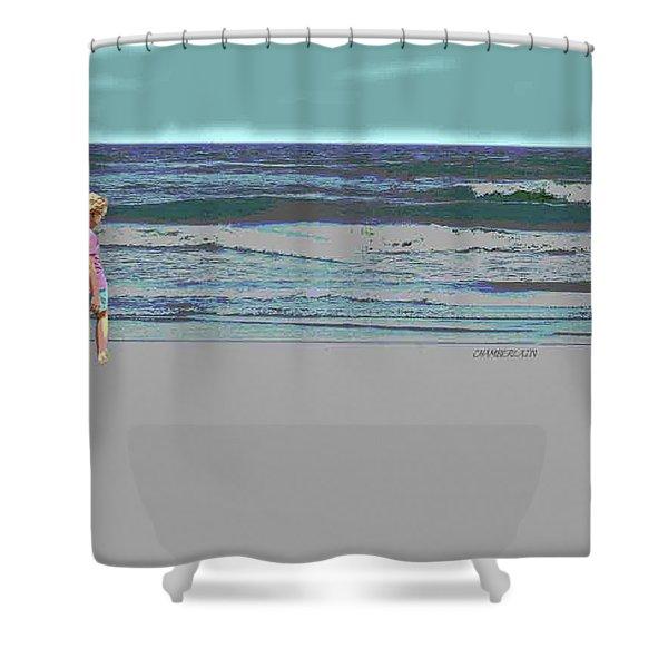 Rosie On The Beach Shower Curtain