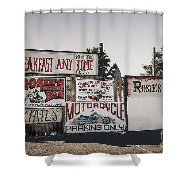 Rosies Den Cafe Shower Curtain