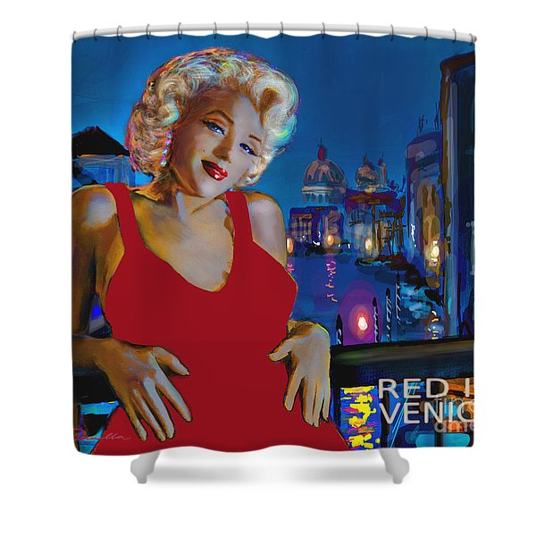 Rot In Venedig / Red In Venice Shower Curtain
