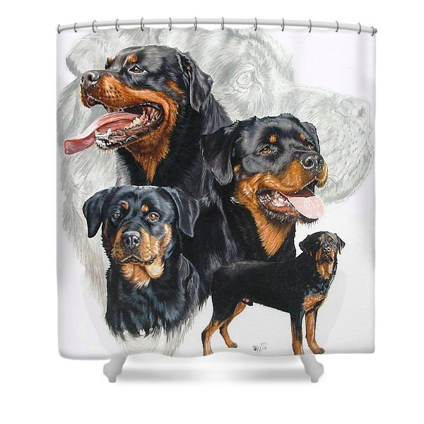 Rottweiler Medley Shower Curtain