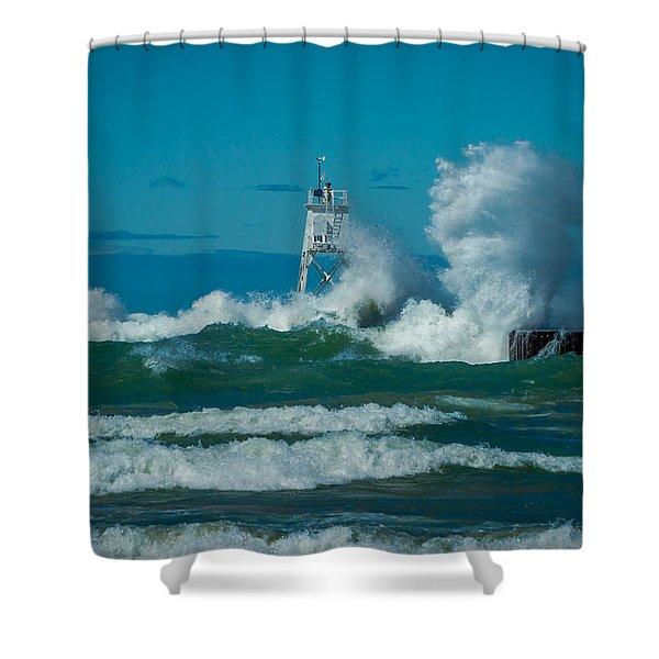 Rough Seas  Shower Curtain