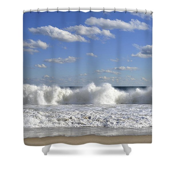 Rough Surf Jersey Shore  Shower Curtain