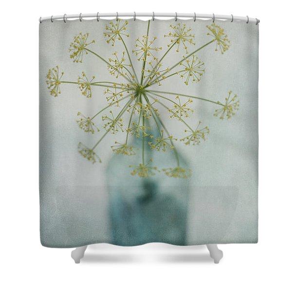 Round Dance Shower Curtain by Priska Wettstein