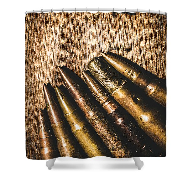 Rounds Of Historic Battle Shower Curtain