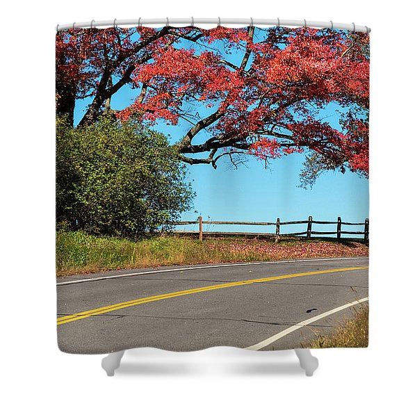 Shower Curtain featuring the photograph Route 5 Color by Tom Singleton