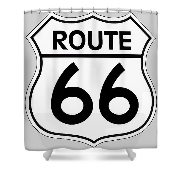 Route 66 Sign Shower Curtain