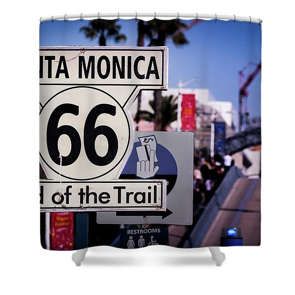 Route 66 End Of Trail Shower Curtain