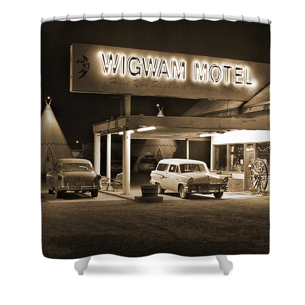Route 66 - Wigwam Motel Shower Curtain