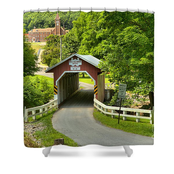Route 812 Covered Bridge Shower Curtain