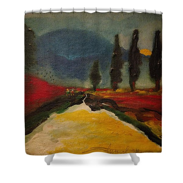 Row Of Cypress Shower Curtain