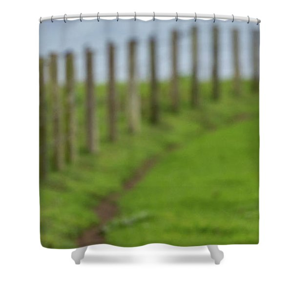 Row View  Shower Curtain