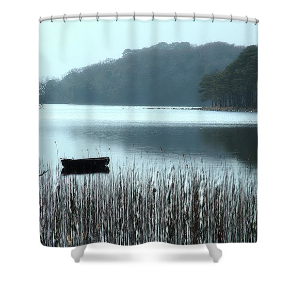 Rowboat On Muckross Lake Shower Curtain