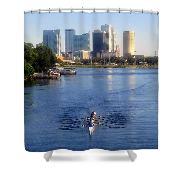 Rowing The Hillsborough Shower Curtain