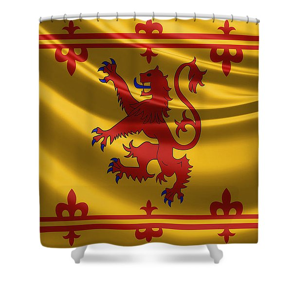 Royal Banner Of The Royal Arms Of Scotland Shower Curtain