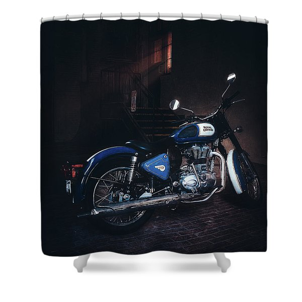 Royal Enfield Shower Curtain