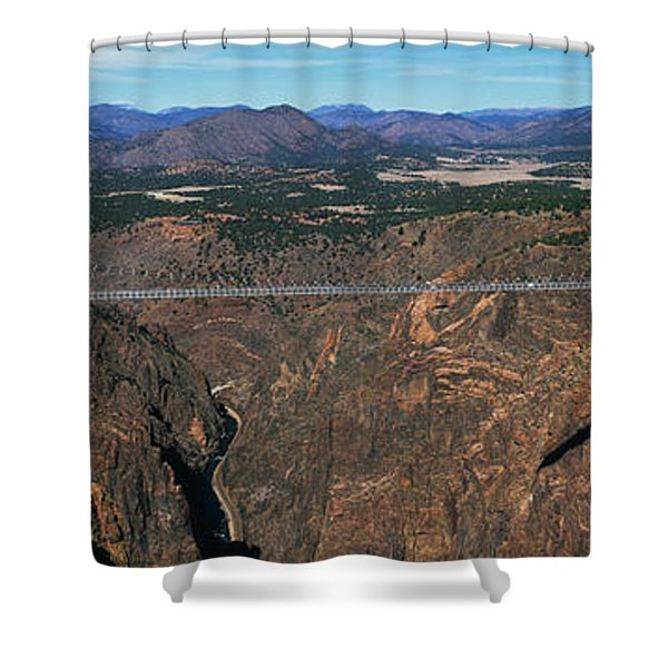 Royal Gorge Bridge Arkansas River Co Shower Curtain