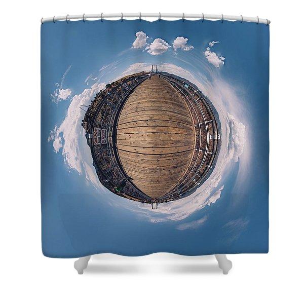 Royal Gorge Bridge Tiny Planet Shower Curtain