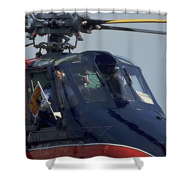 Royal Helicopter Shower Curtain