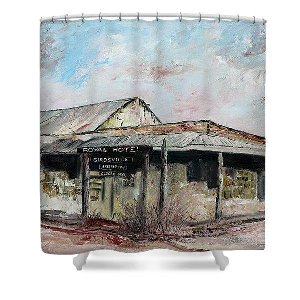 Royal Hotel, Birdsville Shower Curtain
