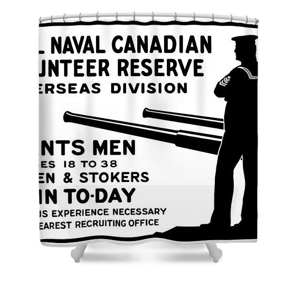 Royal Naval Canadian Volunteer Reserve Shower Curtain