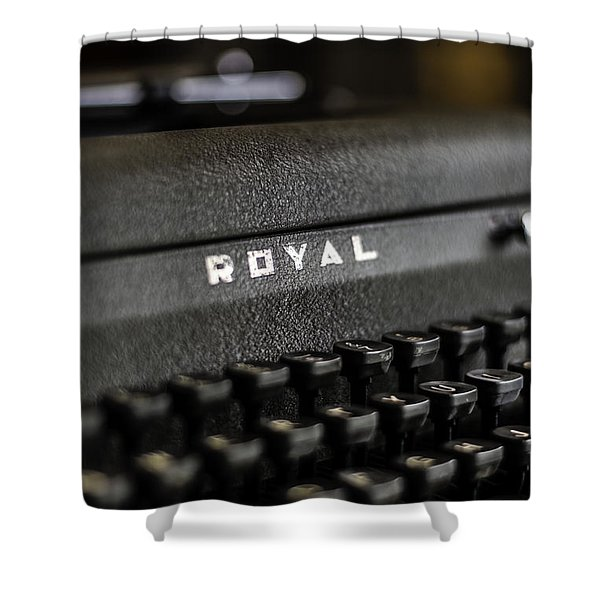 Royal Typewriter #19 Shower Curtain