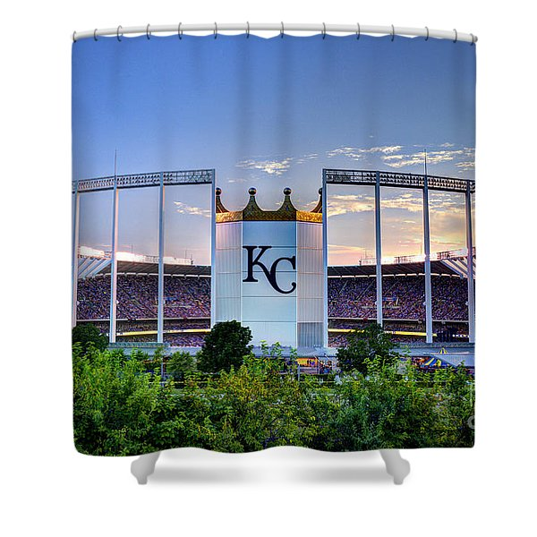 Royals Kauffman Stadium  Shower Curtain