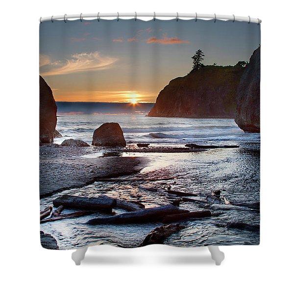 Ruby Beach #1 Shower Curtain