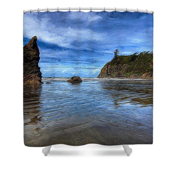 Ruby Beach Shower Curtain